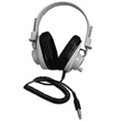 Califone 2924AVP Deluxe Mono Headphones with Attached Coiled Cord
