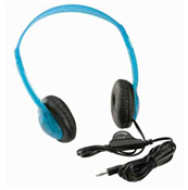 Califone 3060AV-BLI Lightweight Stereo Headphones with Volume Control - Blueberry