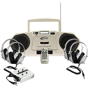 Califone 2385PLC The Music Maker - Single Cassette Package - inc. 4 x Stereo Headphones & 4 x Position Junction Box