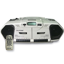 Califone 2395AV-03 The Music Maker - Dual Cassette/CD Player with AM/FM Radio