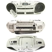 Califone 2455AV-03 Dual Cassette and CD Player with PA