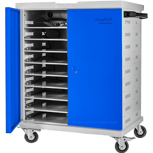 The ChargeBus® 16 Charger Trolley is a cost effective, mobile storage and charging solution for up to 16 laptops including wide screen and large format laptops.