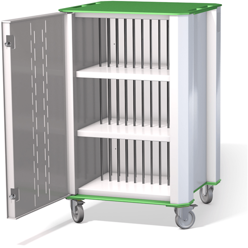 PlasChrome™ 32 Bay Chromebook Charger Trolley