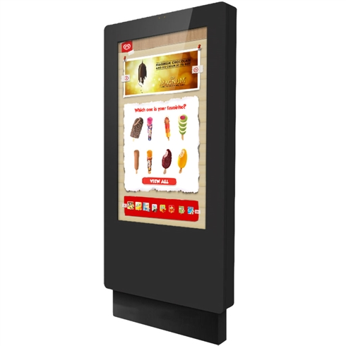 "55"" Outdoor PCAP Freestanding Multi Touch Screen Poster"