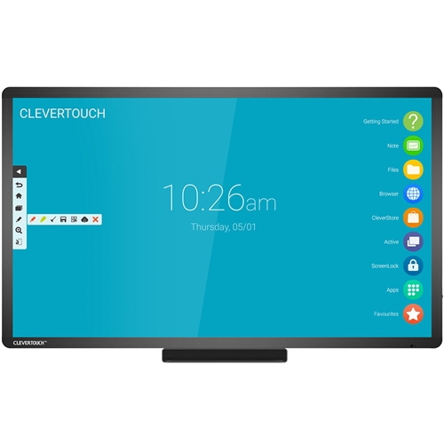 "Clevertouch Plus 75"" 4K Superglide touch Interactive Touch Screenwith AG Glass"