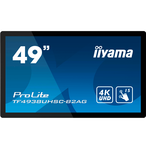 "iiyama ProLite TF4938UHSC-B2AG 4K 49"" 15pt Open Frame PCAP touch monitor with edge-to-edge glass"