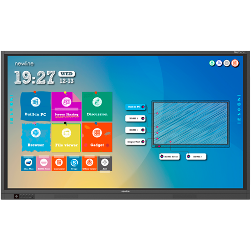 "Newline TT-7519RS 75"" 4K Interactive touchscreen + Free Wall Bracket"