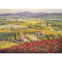 Tuscany Red Poppies