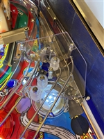 Clear Plastic piece above the Pop Bumpers on Williams Funhouse pinball machine