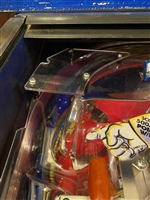 Clear Plastic piece above the Stairs Ramp on Williams Funhouse pinball machine