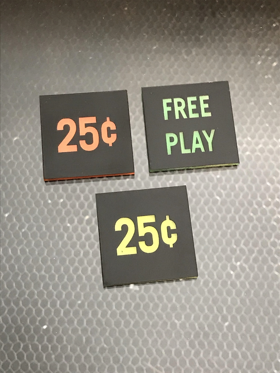 Midway Arcade Coin Door Inserts 50 Cents