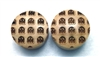"Custom Handmade LIMITED EDITION ""8-Bit Ghosts"" Organic Wood Plugs - ONLY 50 will be made"