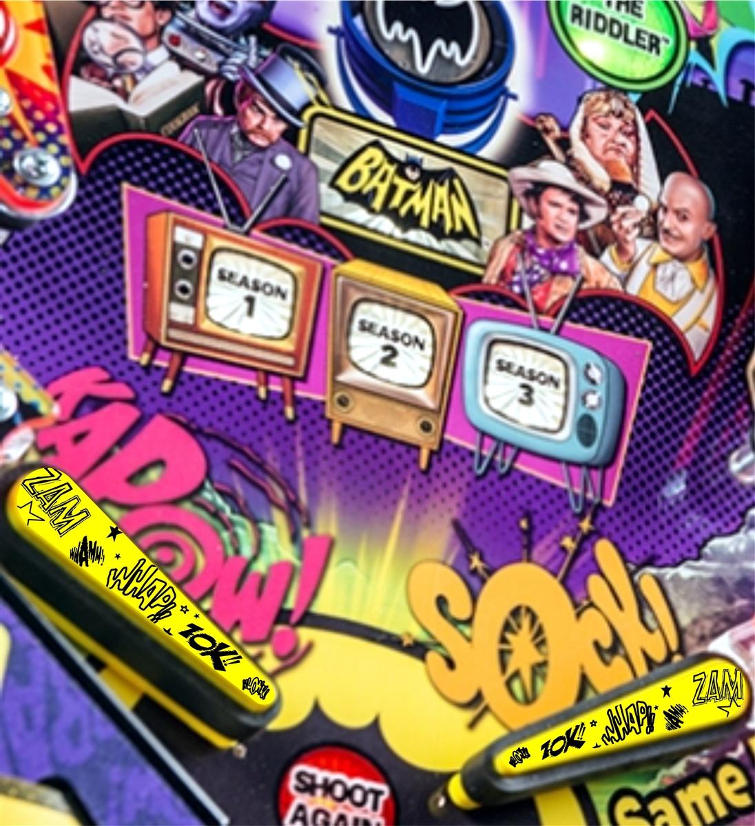Action ! - Pinball Flipper Bat Topper MOD (Set of 2) for Batman 66