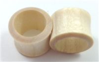 Pair of Blonde Crocodile Wood Tunnel Plugs