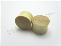Pair of Blonde Crocodile Wood Plugs