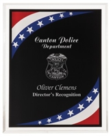 8 x 10 Stars & Stripes Border Clear-Plaq Acrylic