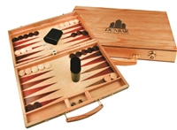 Personalized Wood Backgammon Set