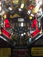 Dark Blood Red Slingshot & Return Lane Protector Set for Stern's The Walking Dead pinball machine
