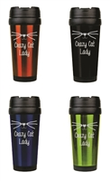 Crazy Cat Lady 16 oz. Travel Mug