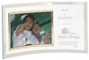 Personalized 7 1/2 x 13 inch Clear Glass Crescent with 5 x 7 Picture Frame