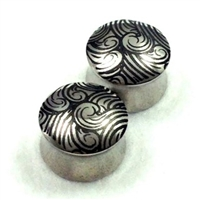"Pair of Surgical Steel ""Wave"" Plugs"