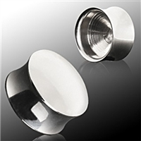 Pair of 316L Surgical Steel Convex Hollow Saddle Plugs
