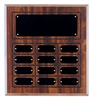 Cherry Finish Completed Perpetual Plaque with 12 Plates