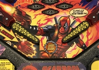 Caution! Flipper Bat Topper MODs for Deadpool pinball machine (Set of 2)