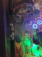 Clear Acrylic Replacement MOD for Stern's Lord of the Rings pinball machine