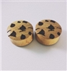 "Pair of ""Chocolate Chip"" Organic Plugs"