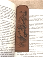 Ducks In Flight Bookmark - Leatherette Faux Leather, Reader Gift, Writer Gift, Student Gift, Teacher Gift