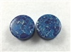 Pair of Dark Blue Agate Stone Plugs