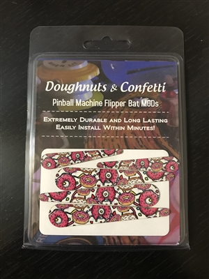 Doughnuts and Confetti Flipper Bat Topper MODs for The Simpsons Pinball Party (Set of 5)