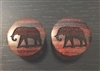 "Pair of ""Elephant Silhouette"" Organic Plugs"