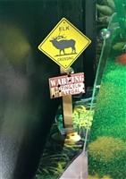 Elk Crossing Sign MOD for Stern's Big Buck Hunter Pro pinball machine