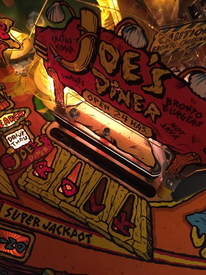 Plastic Protector for the Eat at Joe's center plastic piece on Williams  Flintstones pinball machine