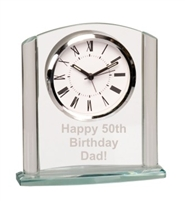 6 1/8 inch Clear Arch Glass Clock