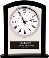"6.25"" Glass Square Clock"