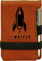 "Personalized Leatherette Notepad 4.75"" x 3.25"
