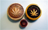 "Pair of ""Go Organic"" Solid Plugs"