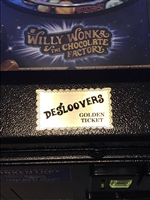 Personalized Golden Ticket engraved plate for Jersey Jack's Willy Wonka pinball machine