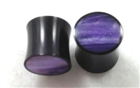 Pair of Organic Horn w/ Purple Resin
