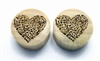 "Pair of ""I Heart Music"" Organic Plugs"