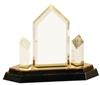 8 1/4 inch Gold Jewel Tower Impress Acrylic