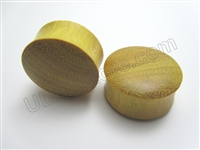 Pair of Jackfruit Wood Plugs