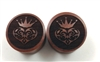 "Pair of ""King of Hearts"" Organic Plugs"