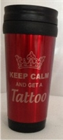 "14 oz ""Keep Calm and Get A Tattoo"" Travel Mug"