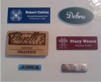 Personalized Engraved Name Badges