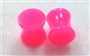 Pair of Solid Neon Pink Acrylic Plugs