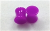 Pair of Solid Neon Purple Acrylic Plugs